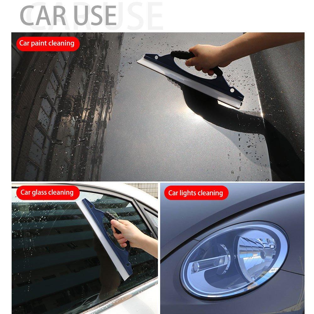 11,8 pulgadas coche Agua Limpiaparabrisas, aozbz silicona para lavar el coche rasqueta limpiacristales agua scraper blade vehículo Lavado Limpieza ...