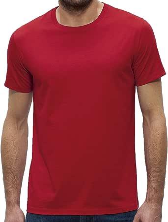 Camiseta de cuello redondo para hombre de 100% algodón orgánico ...