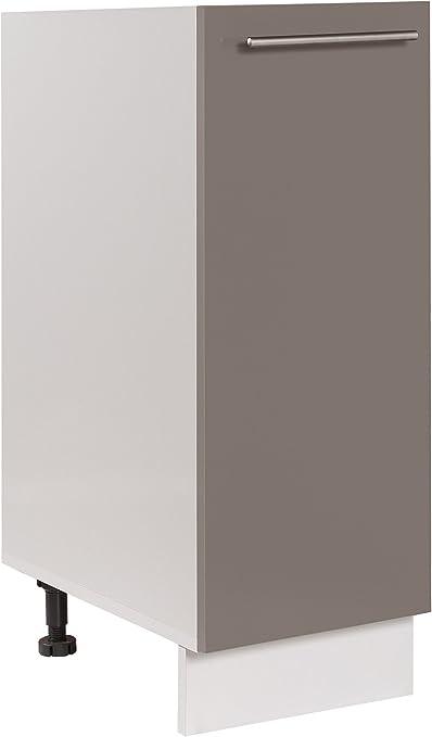 Blanc LAQU/É Easy Cuisine /Él/ément Haut 30cm 1 Porte