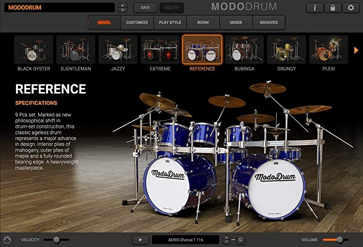 MODO Drum:ドラム選択画面