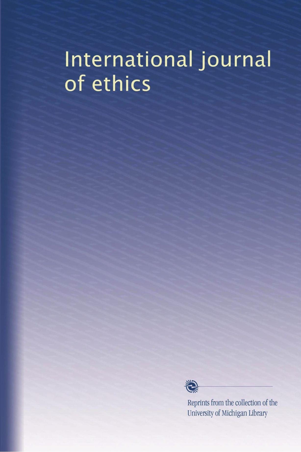 International journal of ethics ebook