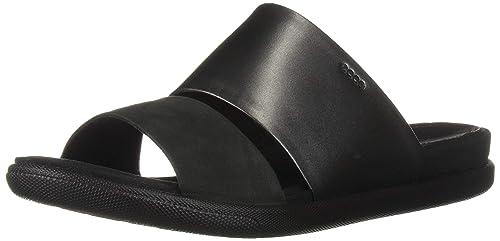 4180f760bb ECCO Women's Women's Damara Ii Slide Flat Sandal Black Dark Shadow, 35 M EU  (