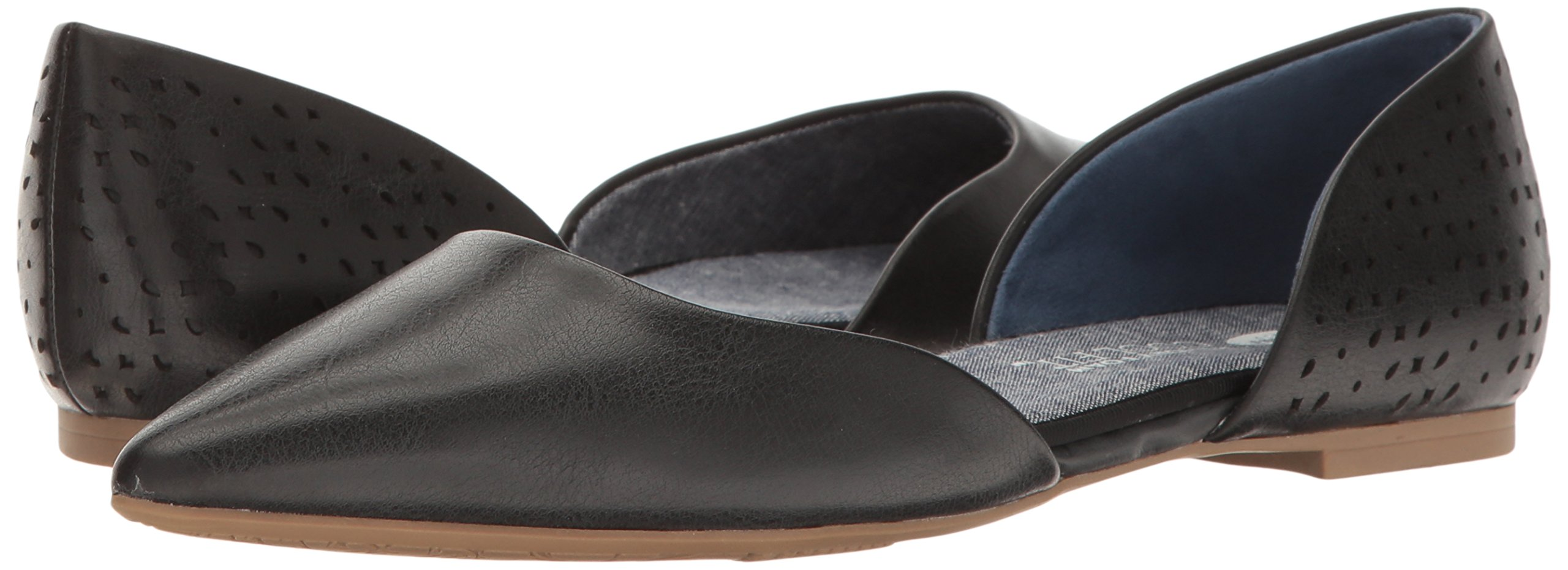 Dr. Scholl's Women's Svetlana Pointed Toe Flat, Black Perforated, 9.5 M US by Dr. Scholl's (Image #6)