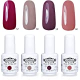 Vernis à Ongles Gel Semi Permanent - Perfect Summer Soak Off UV LED Gel Nail Polish 8ml Couleur Couleur Nacre Glossy 207