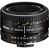 Nikon 2137 50mm f/1.8D Auto Focus Nikkor Lens for Nikon Digital SLR Cameras (Certified Refurbished)