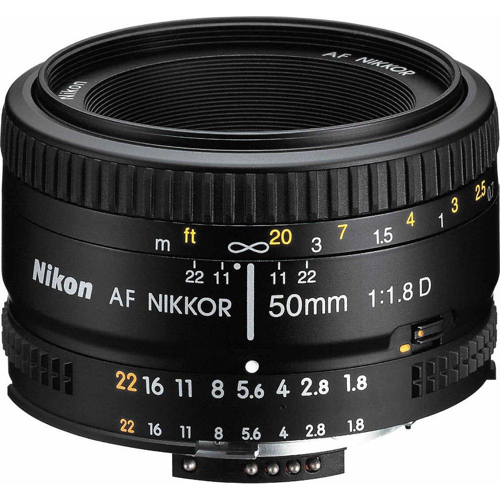 Nikon 2137 50mm f/1.8D Auto Focus Nikkor Lens for Nikon Digital SLR Cameras (Certified Refurbished) by Nikon