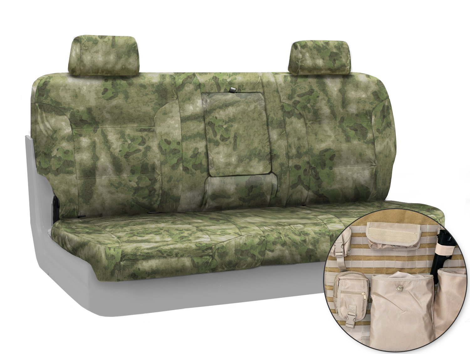 CTSCATC02FD7033T Coverking Custom Fit Front Solid Bench Tactical Seat Cover for Select Ford F-100 Ranger Models Foliage//Green Cordura//Ballistic A-TACS Camo