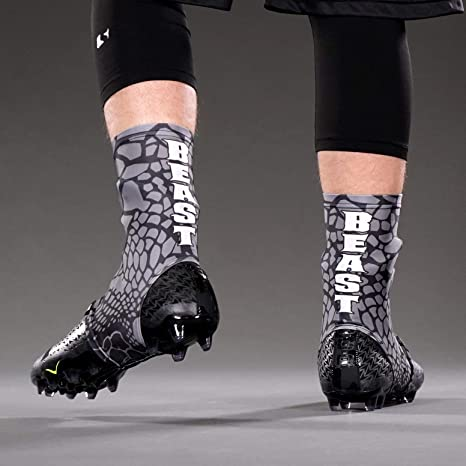 6d1befe2e06 Amazon.com   Beast Snake Skin Gray Spats Cleat Covers   Sports ...
