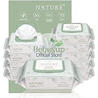 [Biodegradable] Bebesup Nature Zero Cap 70s Baby Wipes - Carton