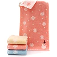 Qrity 3X Toalla para Niños Algodón Suave 100% Lavadoras de Bebés Pañuelos 25 x 50 cm. Copos de Nieve Lavandería Toallas…