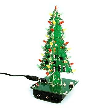 gikfun 3d christmas trees led diy kit flash led circuit ek1719 - Amazon Christmas Trees