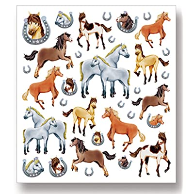 Tattoo King Multi-Colored Stickers-Horses Glitter: Arts, Crafts & Sewing