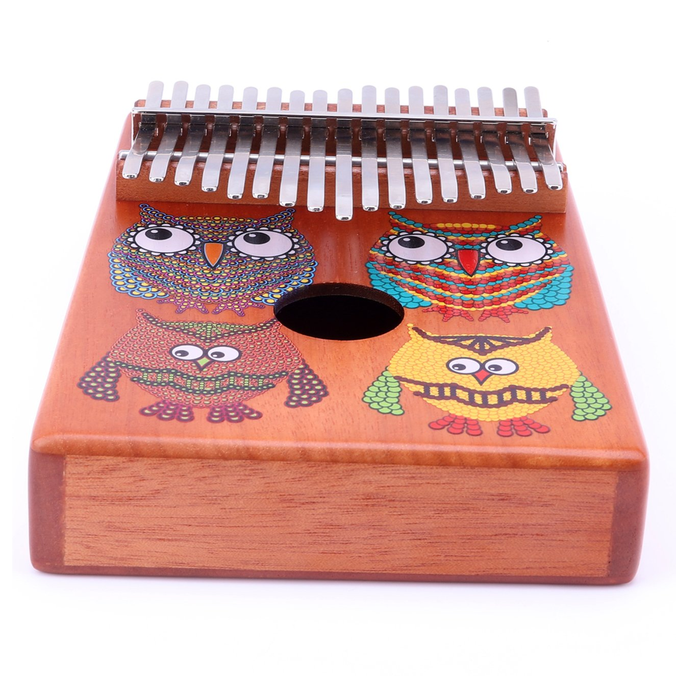 VI VICTORY 17 Key Mahogany Kalimba Colorful African Thumb Piano Finger Percussion Keyboard Music Instruments - Owl by VI VICTORY (Image #7)