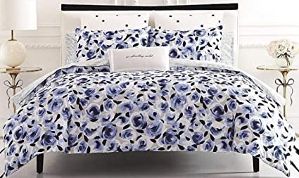 Amazon Com Kate Spade Garden Rose 3 Piece Full Queen Comforter Set