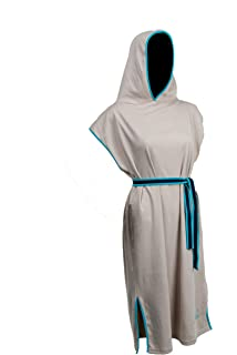 e2d5d6bcec Tuuli Beach Surf Poncho 100% Cotton Changing Towel with Hood Light-Weight  Adults Men