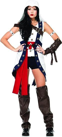 Amazon Com Leg Avenue Women S Connor Assassin S Creed Costume
