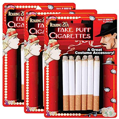 Forum Novelties Fake Cigarettes - 3 Pack of 6 Pieces: Office Products