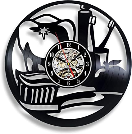 Dentist Vinyl Wall Clock Stomatology Unique Gifts Living Room Home Decor