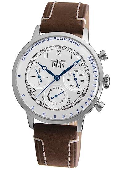 Davis 1921 - Reloj de pulsera hombre médico, esfera de acero, con ...