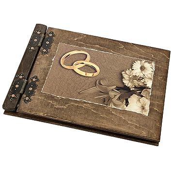 Aldecor Livre D Or Avec Couvertures En Bois Pour Mariage