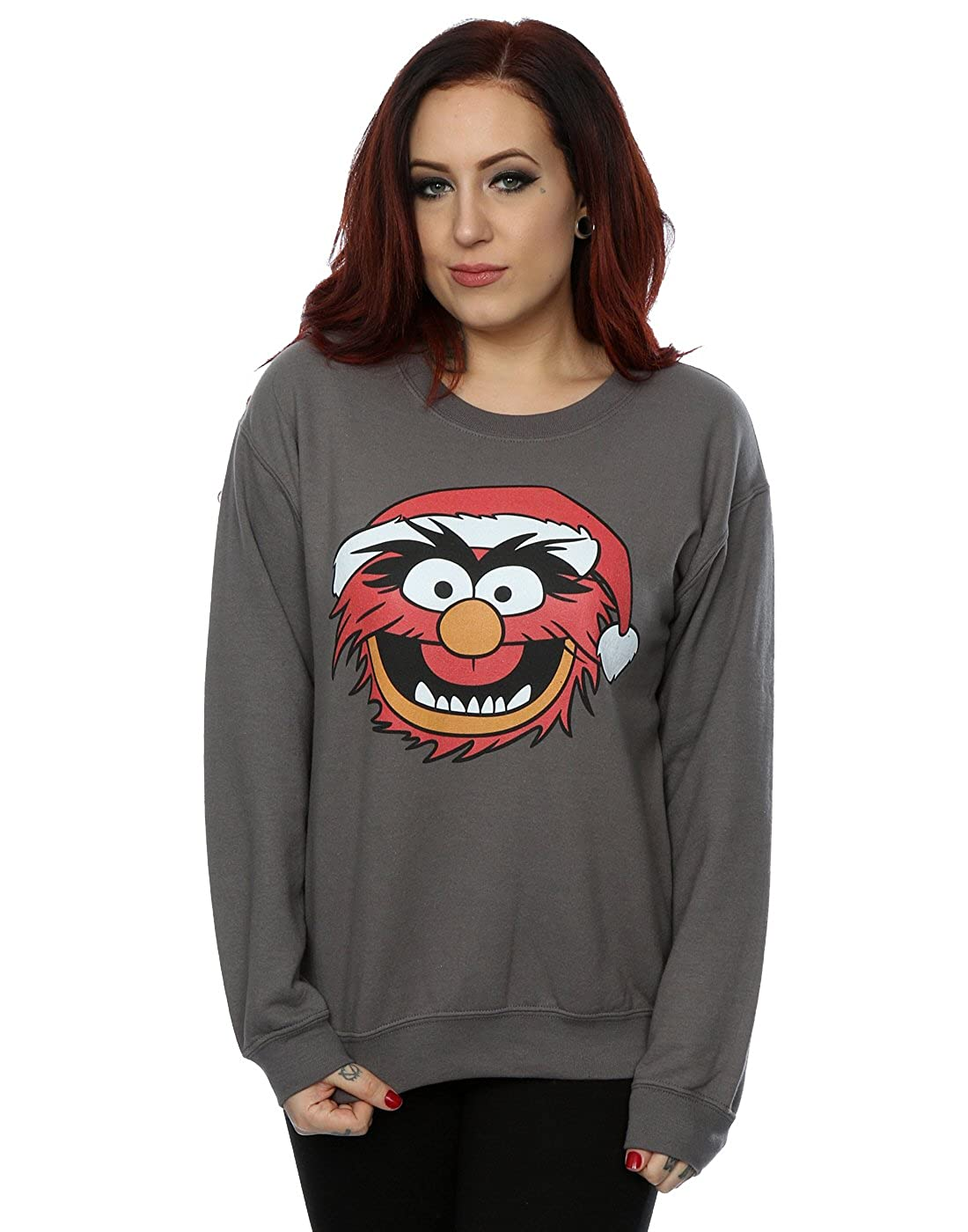 Disney Women's The Muppets Animal Christmas Sweatshirt Absolute Cult