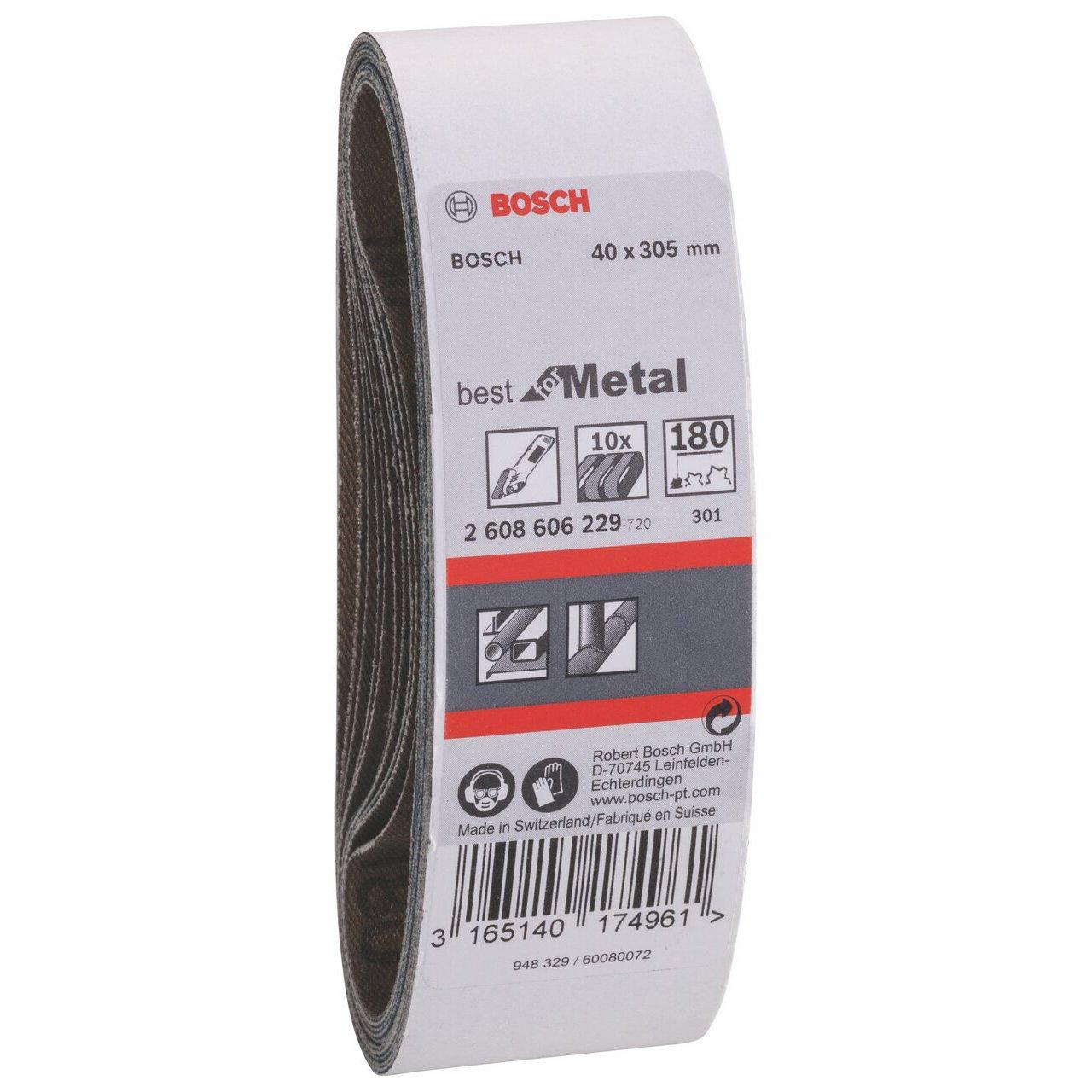 40 mm x 305 mm Red Bosch 2608606207 Belt Compact Sander40x303 G80