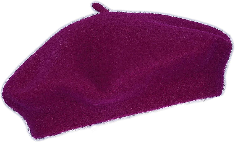 casual Runsabay Berretti per Natale e Capodanno tinta unita in lana stile vintage francese artista berretto classico leggero