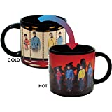 Star Trek Transporter Heat Changing Coffee Mug - Add Hot Liquid and Kirk, Spok, McCoy and Uhura Appear on the Planet's Surface - Comes in a Fun Gift Box