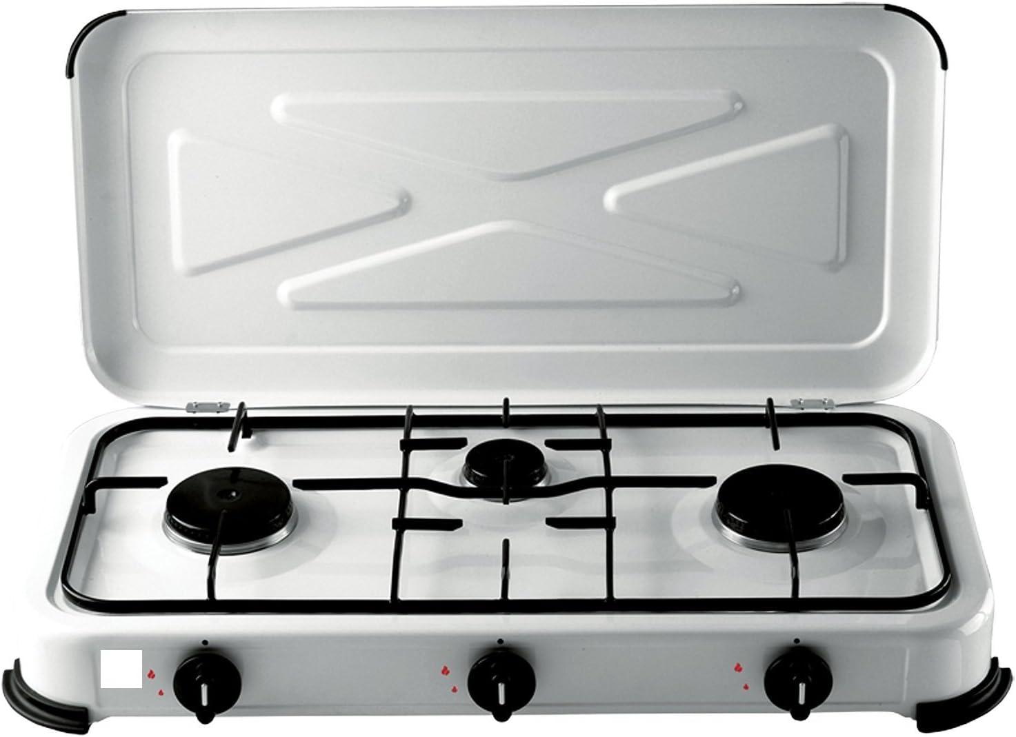 Cocina de gas 3 quemadores X cocina, campismo ECC.