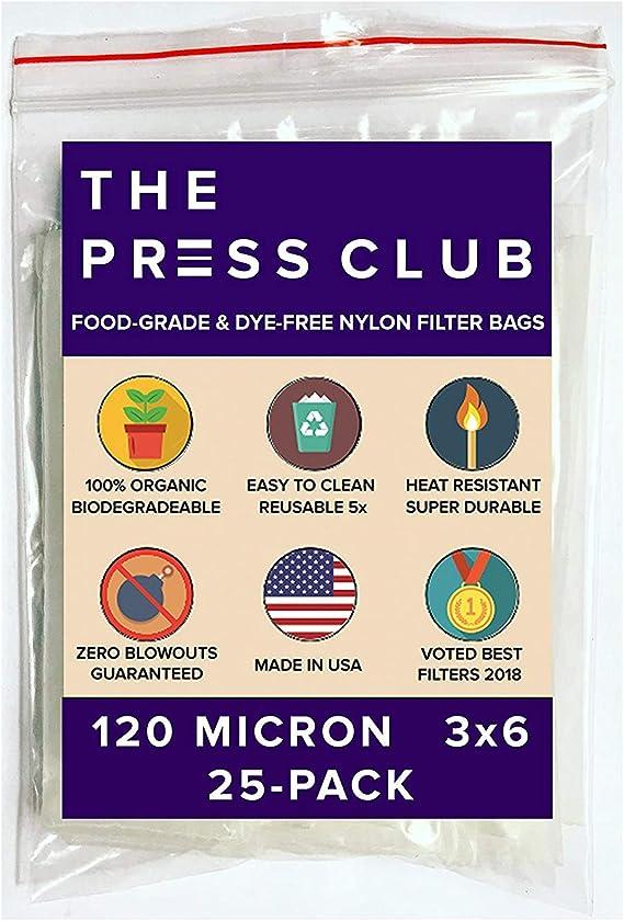 120 Micron | Premium Nylon Tea Filter Press Screen Bags | 3
