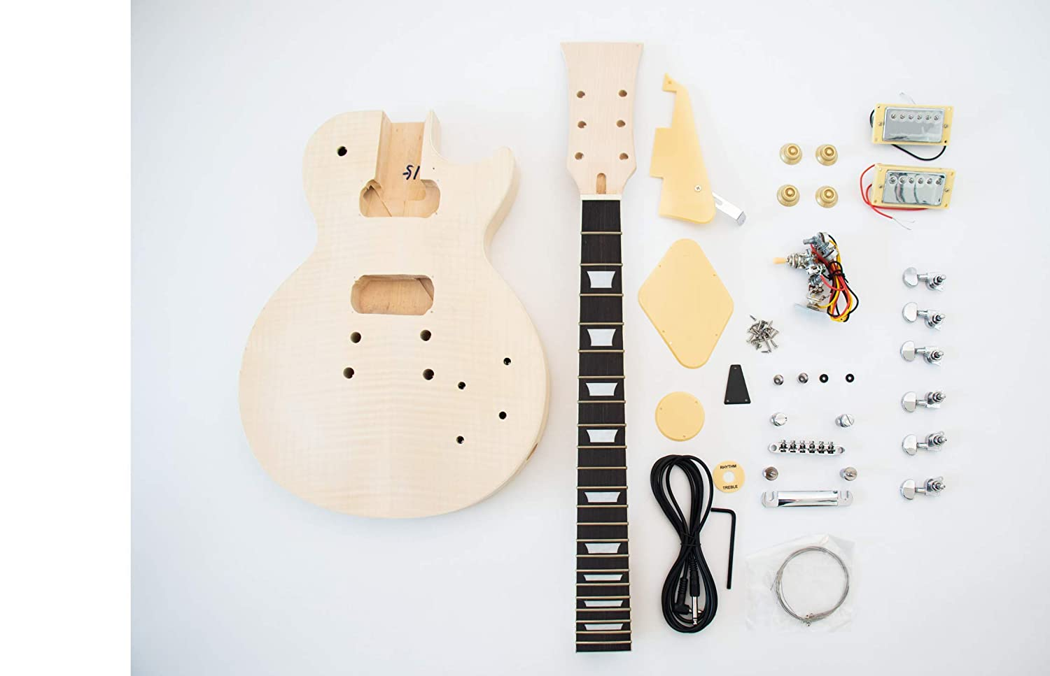 Diy Electric Guitar Kit Singlecut Style Build Your Own Wiring Harness Musical Instruments