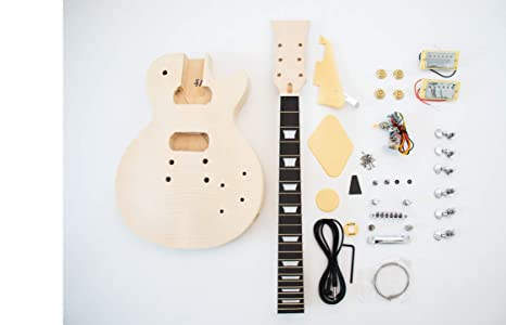 DIY Kit de guitarra eléctrica LP estilo construir su propio Kit de guitarra