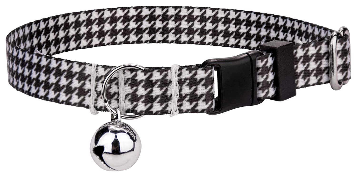 Country Brook Petz Houndstooth Featherweight Cat Collar