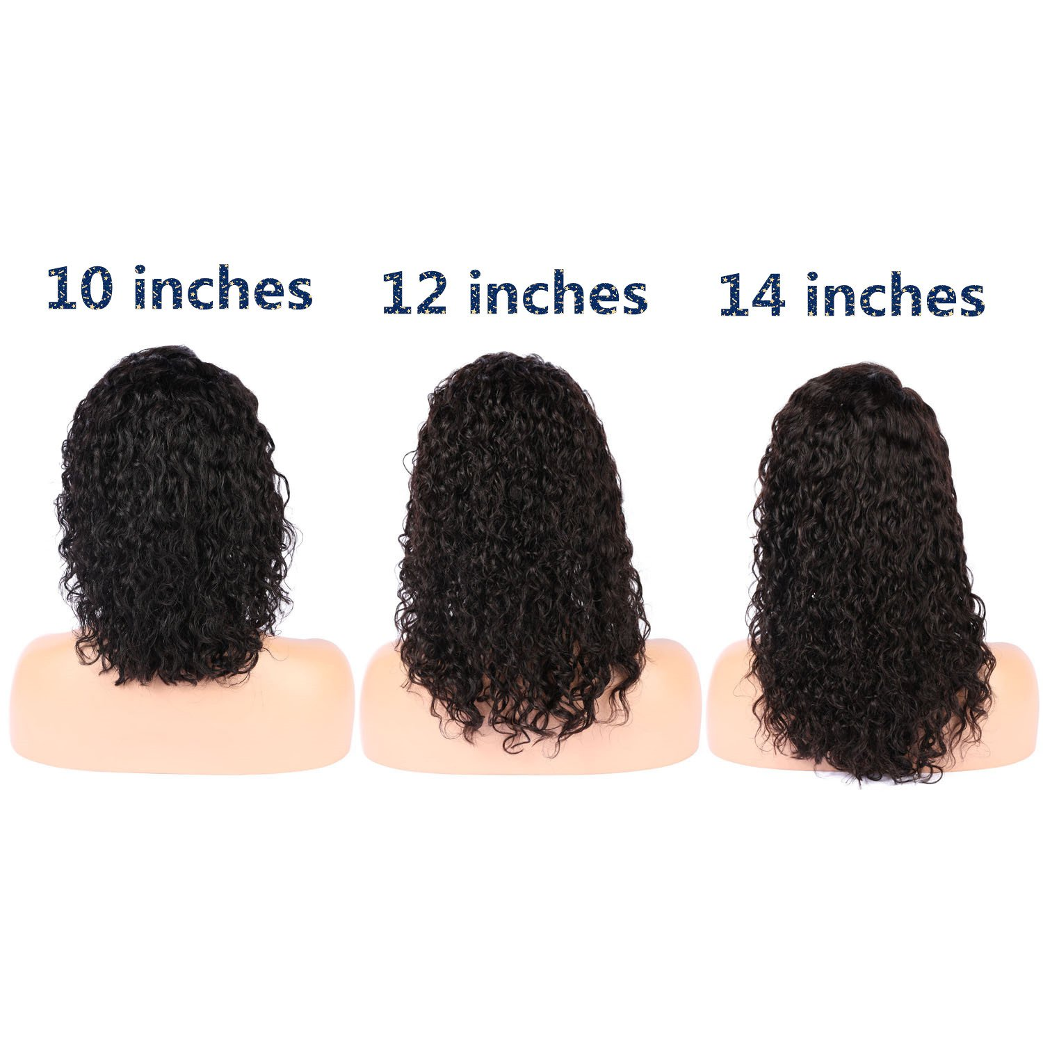 LIAZAHAIR Short Deep Curly Human Hair Lace Front Wigs With Baby Hair Pre-Plucked Natural Hairline Brazilian Remy Bob Wig For Ladies (10 inches) by LIAZAHAIR (Image #4)
