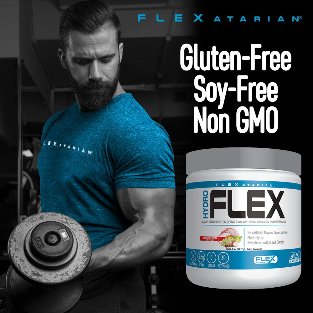 Flexatarian Hydro Flex, Natural Hydration Powder with BCAAs, Fruit Punch, 30 Servings by Flexatarian (Image #5)