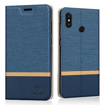 RIFFUE Funda Xiaomi Mi 8, Carcasa Xiaomi Mi8 Delgada Libro de Cuero con Tapa Cartera de Ranura y Billetera Elegante Case Cover para Xiaomi Mi 8 6.2