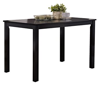 Peachy Kings Brand Furniture Black Finish Wood Dining Room Kitchen Table Home Interior And Landscaping Ologienasavecom