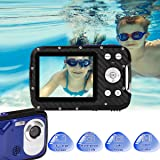 Waterproof Digital Camera Full HD 1080P Underwater Camera 16 MP Underwater Camcorder with 1050MAH Rechargeable Battery Point and Shoot Camera DV Recording Waterproof Camera for Snorkeling