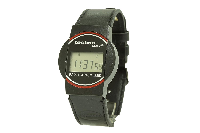 Technoline Wt 946Radio Reloj de pulsera, Negro