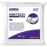 Kimtech 06179 W5 Critical Task Wipers, Flat Double Bag, Spunlace, 9x9, White