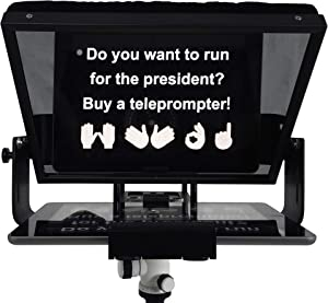 Adjustable Tablet Teleprompter Kit for iPad/Tab/Smartphone/DSLR Video Camera, Professional Prompting Tool for Vloggers and Media Practitioners with Carry Case