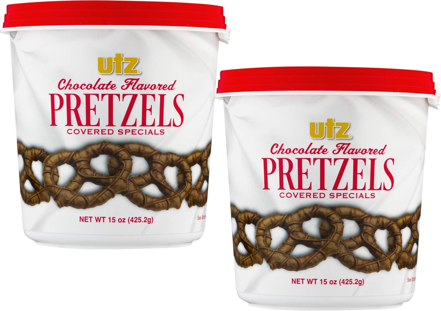 Utz Milk Chocolate Flavored Covered Pretzels- 15 oz. Tub (2 Tubs) by Utz Quality Foods, Inc.
