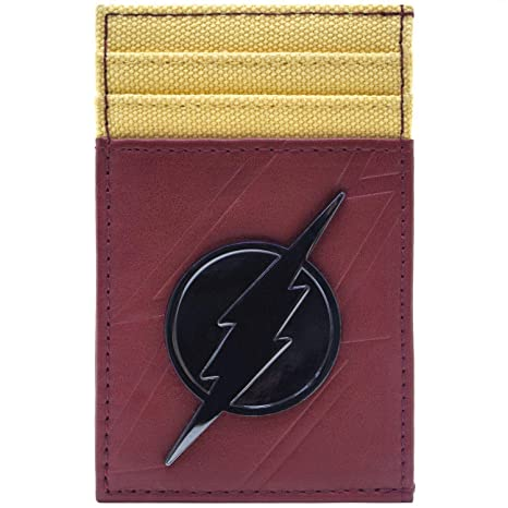 Cartera de The Flash De Metal símbolo del Rayo Insignia Rojo