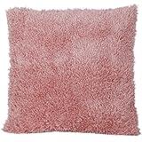 【ノーブランド品】ぬいぐるみ生地 ふわふわ もこもこ ピローケース クッションカバー (ピンク) 45x45cm
