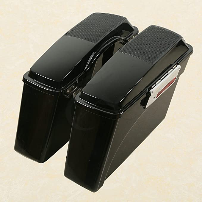 TCMT Motorcycles Hard Saddlebags Trunk W// 6x9 Speaker Lid Latch Key Fits For Harley Touring Road King 1994 95 96 97 98 99 00 01 02 03 04 05 06 07 08 09 10 11 12 2013