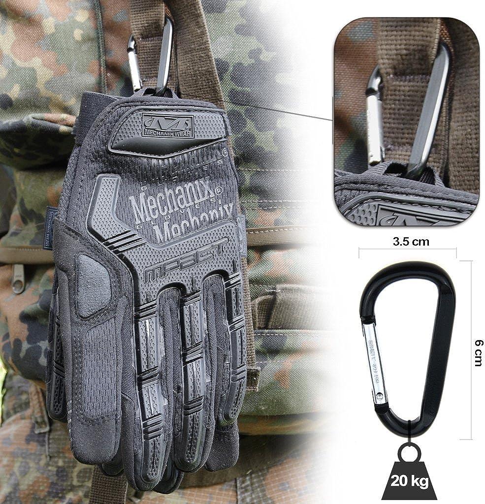 Multicam Schwarz Covert Coyote Wolf Grey Gear Karabiner optimaler Schutz Gr/ö/ße: S,M,L,XL Mechanix WEAR M-PACT Tactical Einsatz-Handschuh atmungsaktiv beste Passform