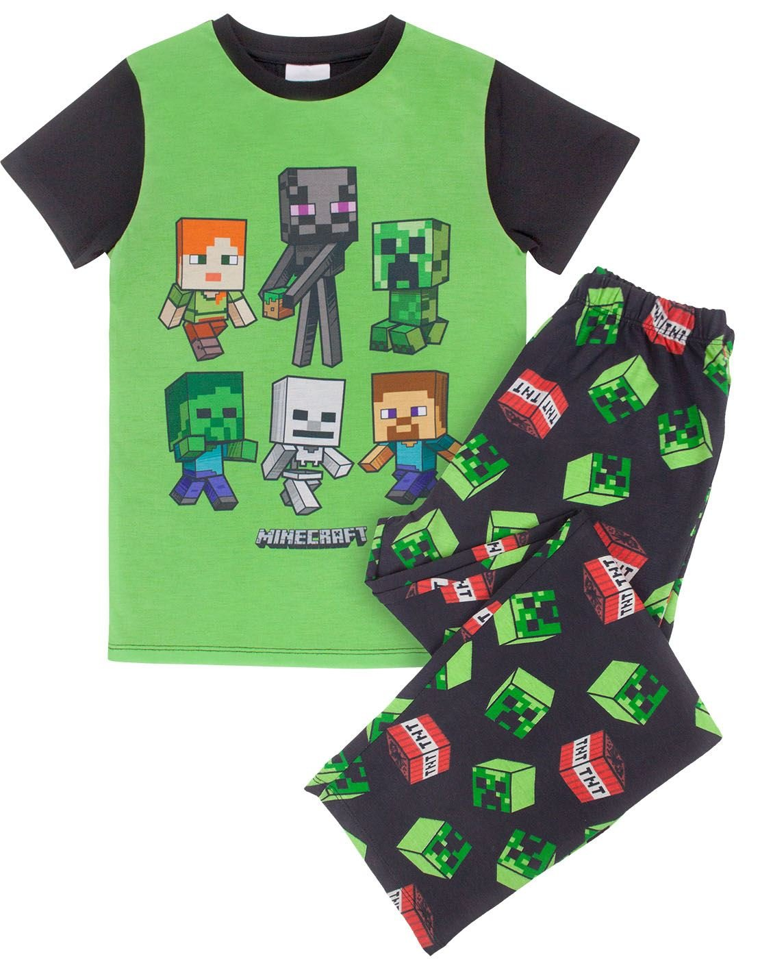 Minecraft Creeper TNT Boys Pajamas