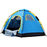 CBEX Portable Tent for Camping for 6 Person Outdoor Tent Camping Waterproof Tent (Multi Color)