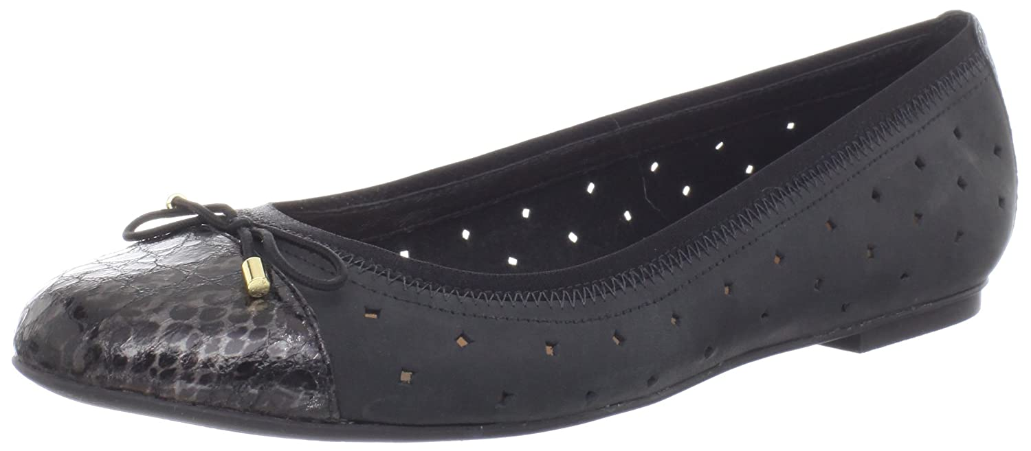 CLARKS Women's Valley Stone Flat B008L5HK4A 5 B(M) US|Black