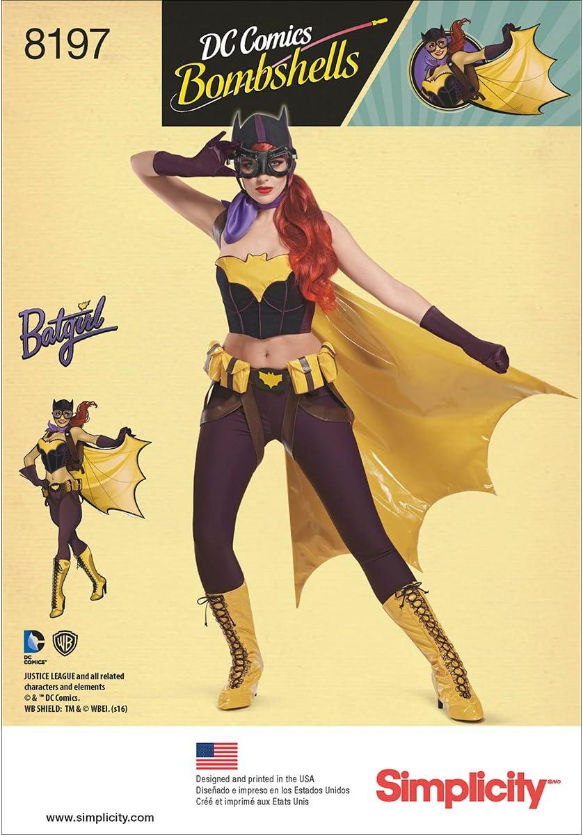 Simplicity 8197 Misses/' Batgirl Costumes   Sewing Pattern
